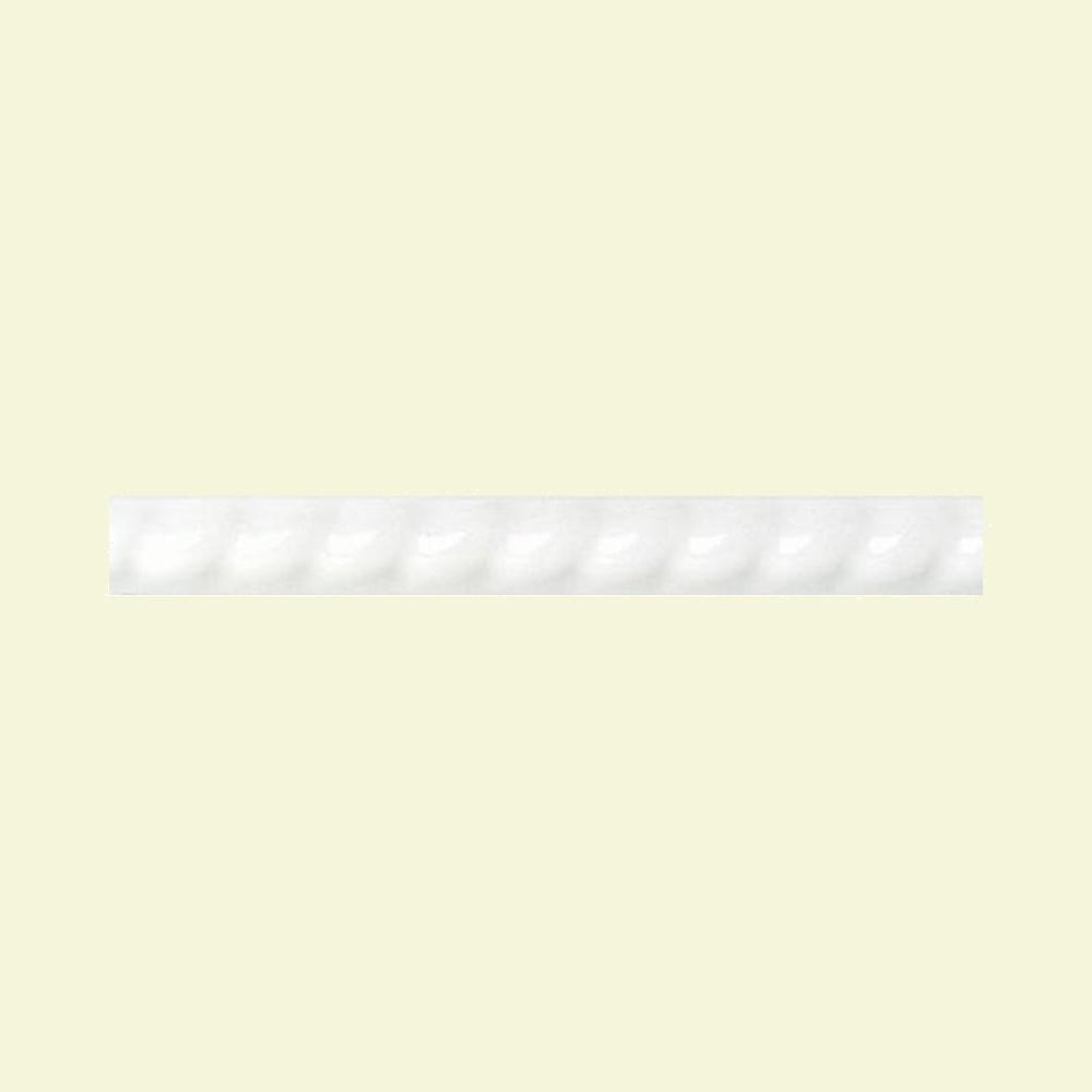 Daltile Polaris Gloss White 1 2 In X 8 Glazed Ceramic Rope
