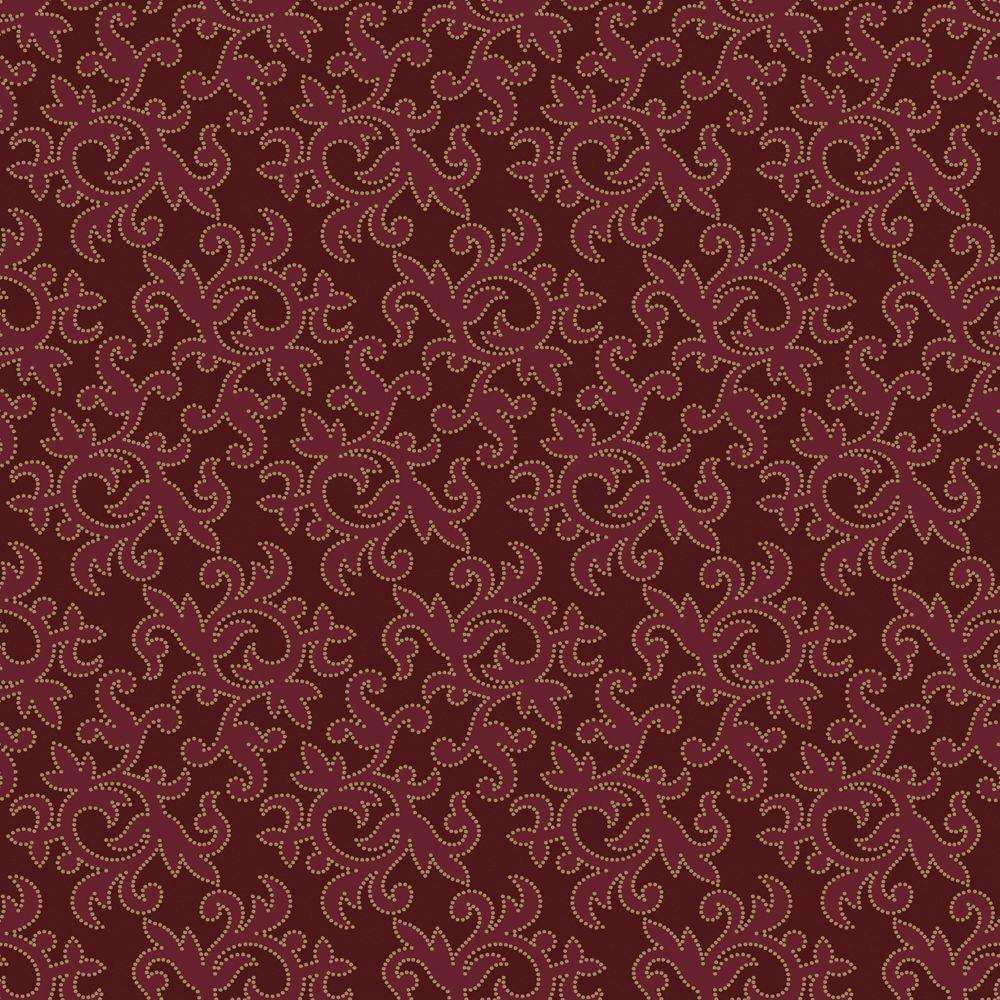 The Wallpaper Company 56 sq. ft. Tiffany Red Wallpaper