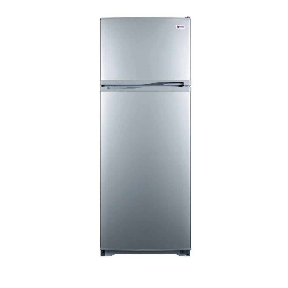 Summit Appliance 9.4 cu. ft. Top Freezer Refrigerator in Platinum, Counter Depth-DISCONTINUED