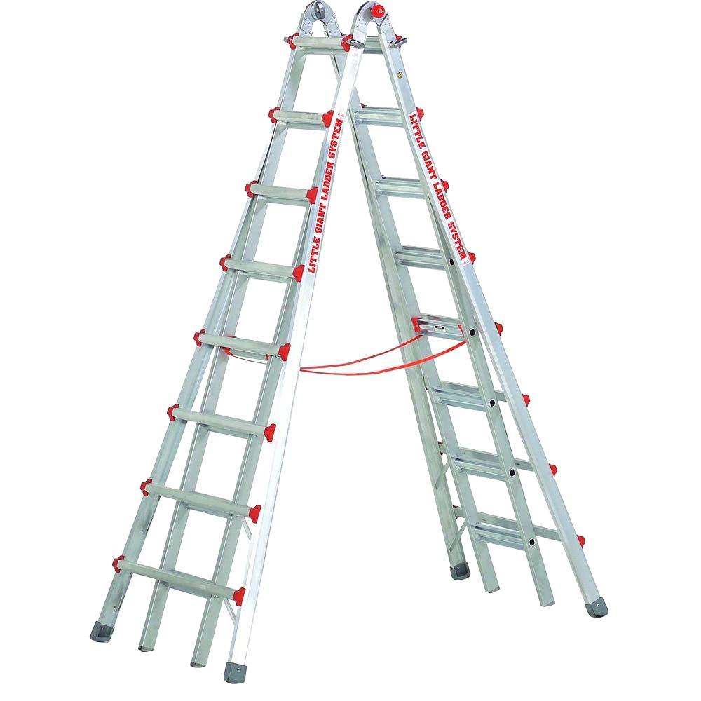 Little Giant Ladder Systems SkyScraper 15 ft. Aluminum Step Multi-Position Ladder with 300 lb. Load Capacity Type IA Duty Rating