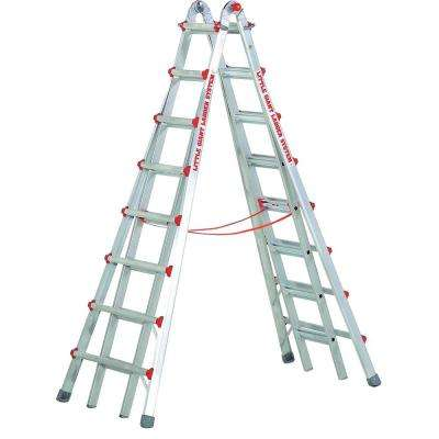 SkyScraper 15 ft. Aluminum Step Multi-Position Ladder with 300 lb. Load Capacity Type IA Duty Rating