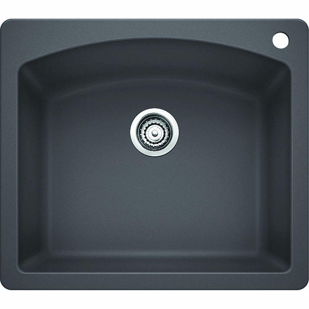 blanco diamond dual mount granite composite 25 in  1 hole single bowl kitchen sink blanco diamond dual mount granite composite 25 in  1 hole single      rh   homedepot com