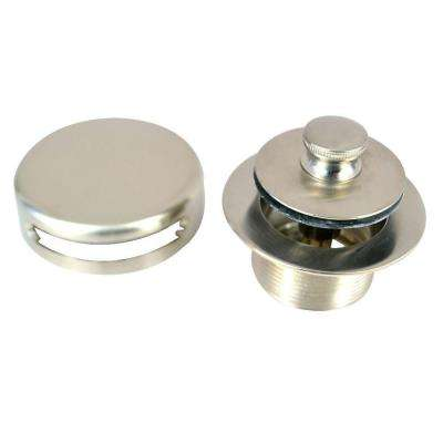 1.865 in. Overall Diameter x 11.5 Threads x 1.25 in. Lift and Turn Trim Kit, Brushed Nickel