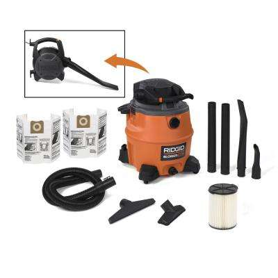16 gal. 6.5-Peak HP Wet Dry Vac with Detachable Blower and 2 Bonus Filter Bags