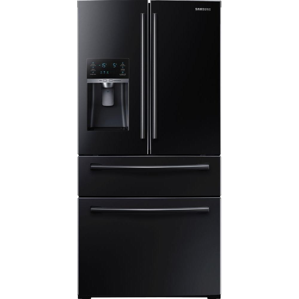 refrigerator black. 4-door french door refrigerator in black home depot