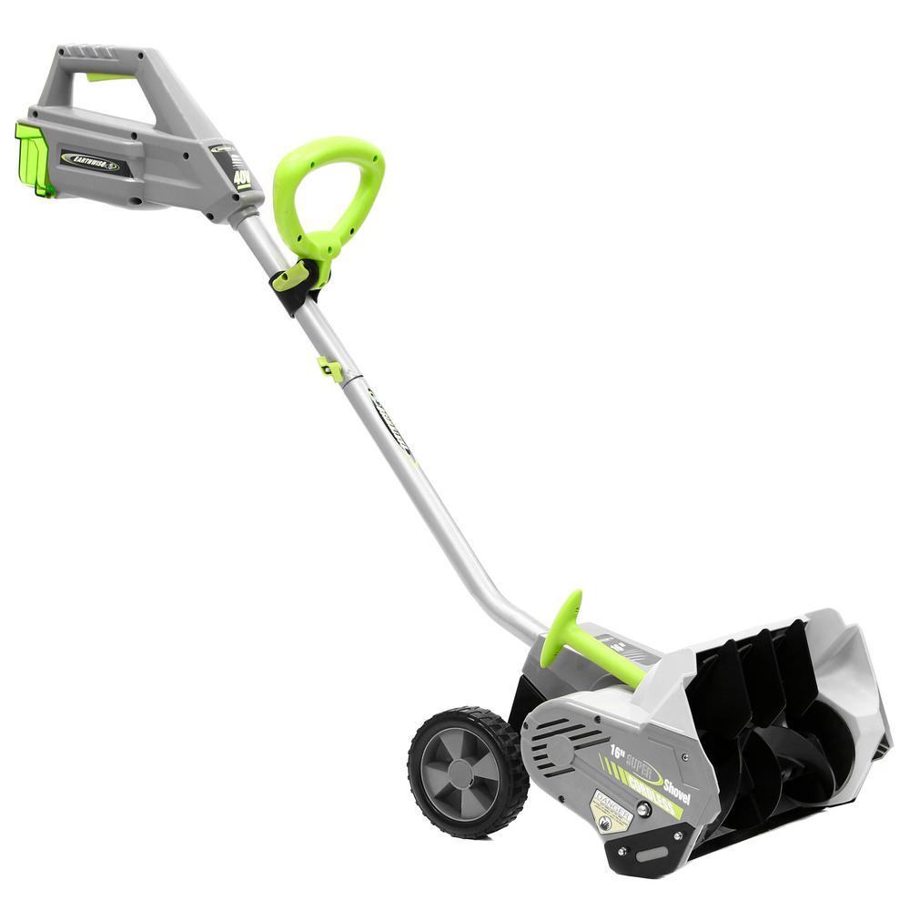 16 in. 40-Volt 4 Ah Battery Cordless Electric Snow Blower Shovel