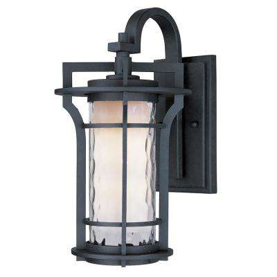 Oakville 12 in. W 1-Light Black Oxide Outdoor Wall Mount Sconce