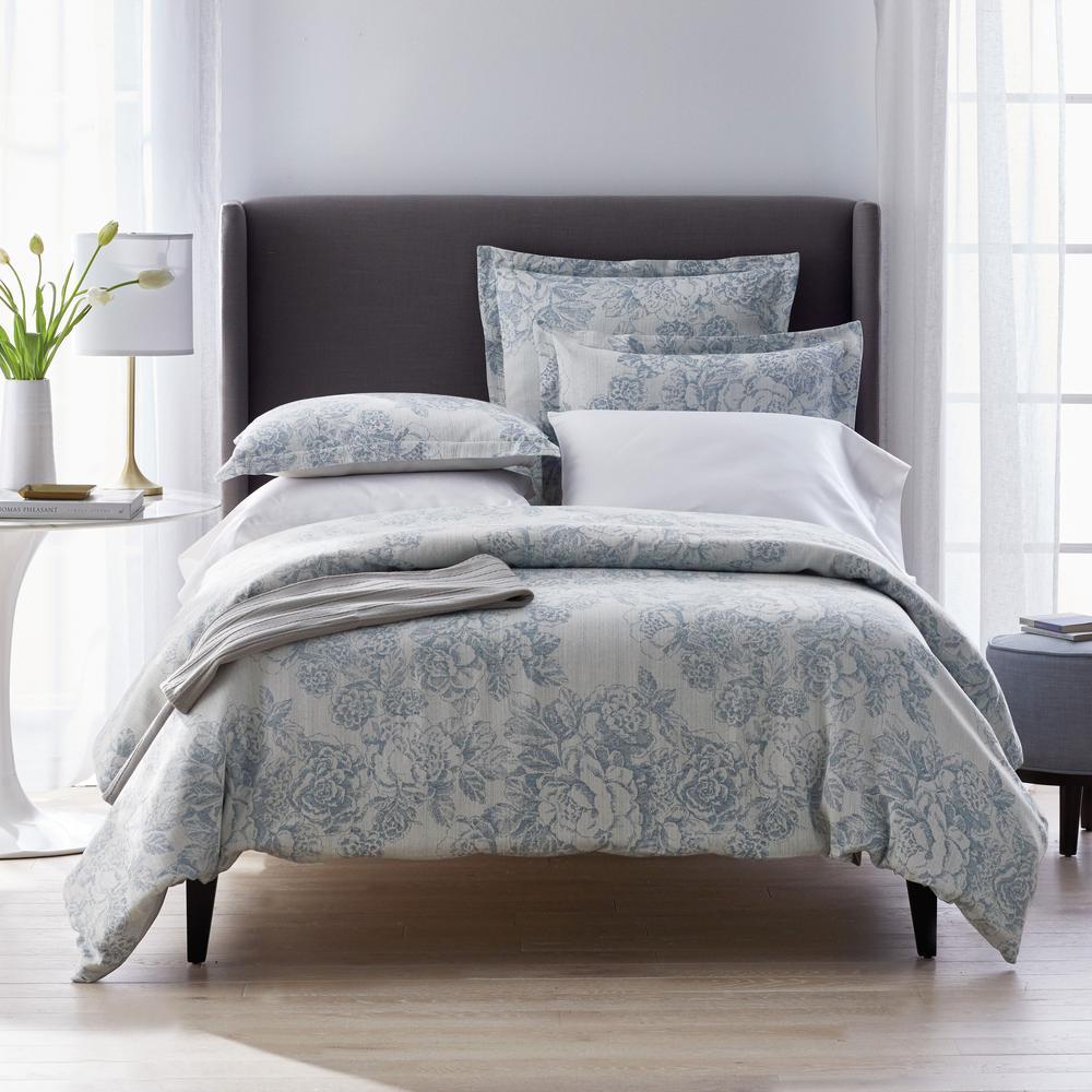 Marta Floral Multicolored Reversible Cotton Linen Blend Full Duvet Cover
