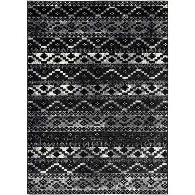 Madrid Black 5 ft. 3 in. x 7 ft. 3 in. Mexican Area Rug