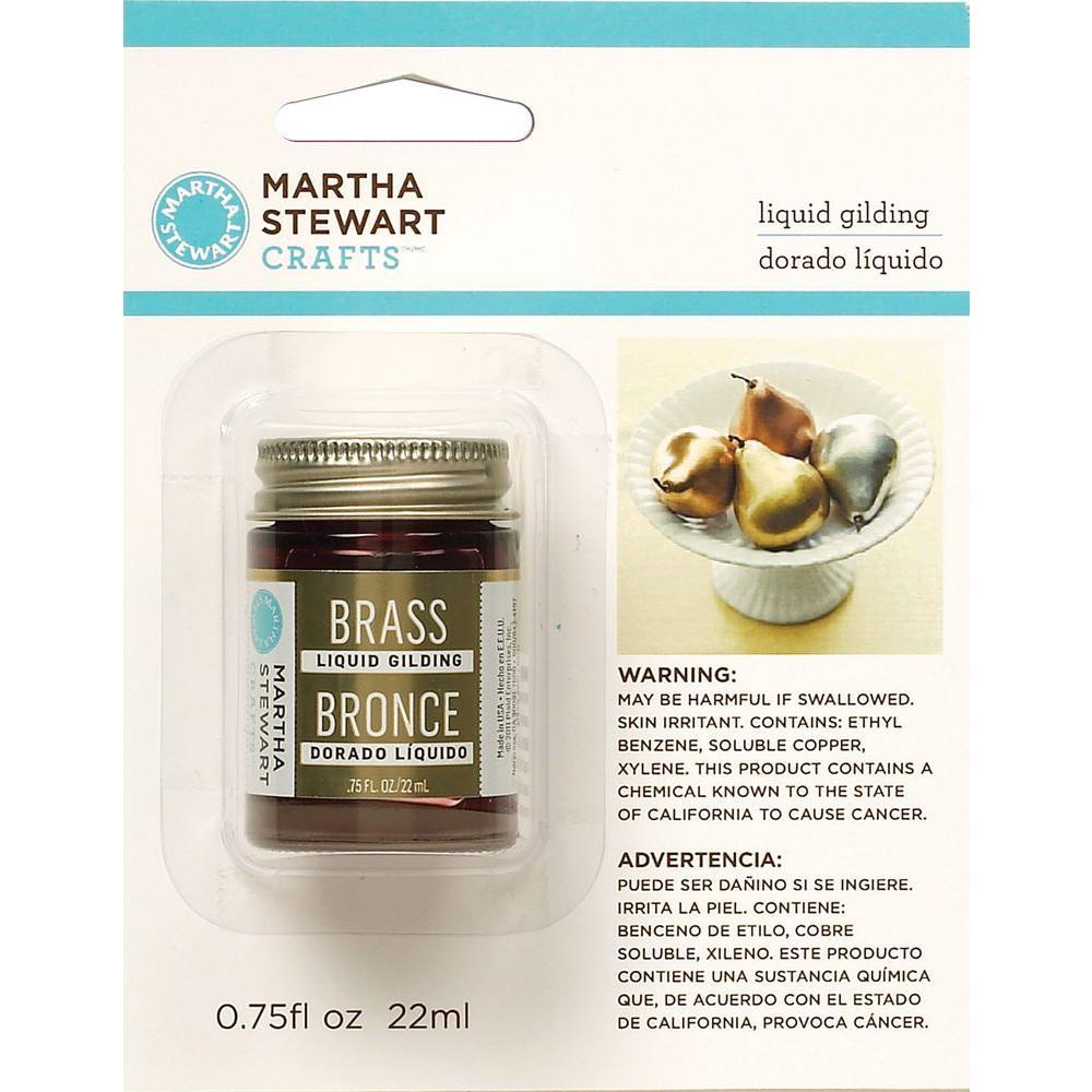 Martha Stewart Crafts 0.75-oz. Brass Liquid Gilding