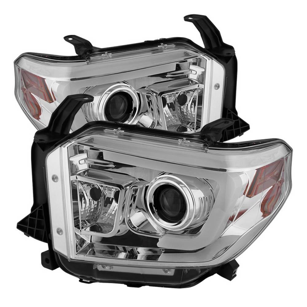 toyota tundra 2014-2017 / 2018 tundra ( will only fit sr and sr5 model )  projector headlights - light bar drl - chrome
