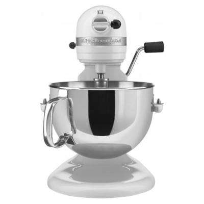 Professional 600 Series 6 Qt. 10-Speed White Stand Mixer with Flat Beater, Wire Whip and Dough Hook Attachments