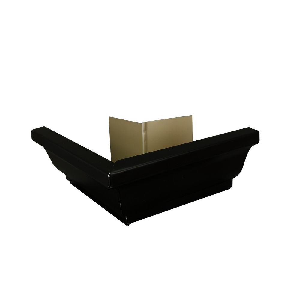 Amerimax Home Products 5 in. Black Aluminum Outside Miter Box
