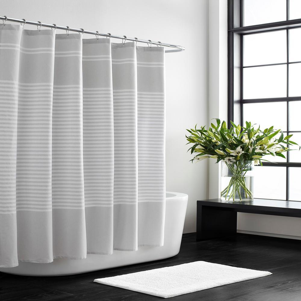 Seersucker 72 in. x 70 in. Stripe Shower Curtain