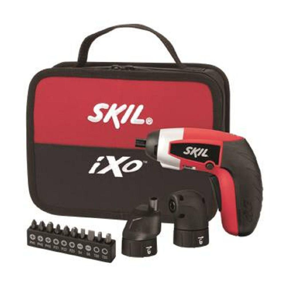 Skil 4-Volt Premium ixO Kit with Right Angle, Offset and 10-Pieces Accy