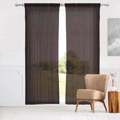 Adorn 52 in. W x 96 in. L Window Panel in Brown (2-Pack)