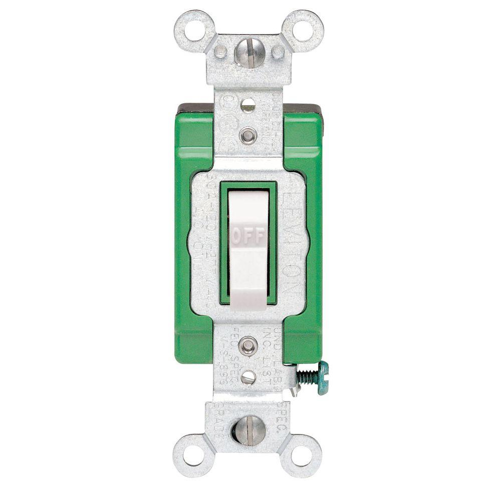 white leviton switches r62 03032 2ws 64_1000 leviton 30 amp industrial double pole switch, white r62 03032 2ws 220 Single Phase Motor Wiring at bayanpartner.co
