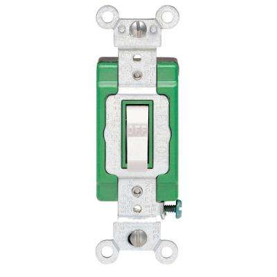 30 Amp Industrial Double Pole Switch, White