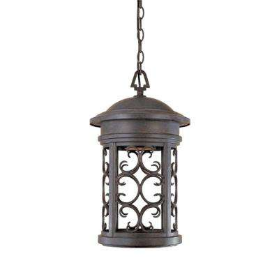 Chambery Mediterranean Patina Outdoor Hanging Lamp