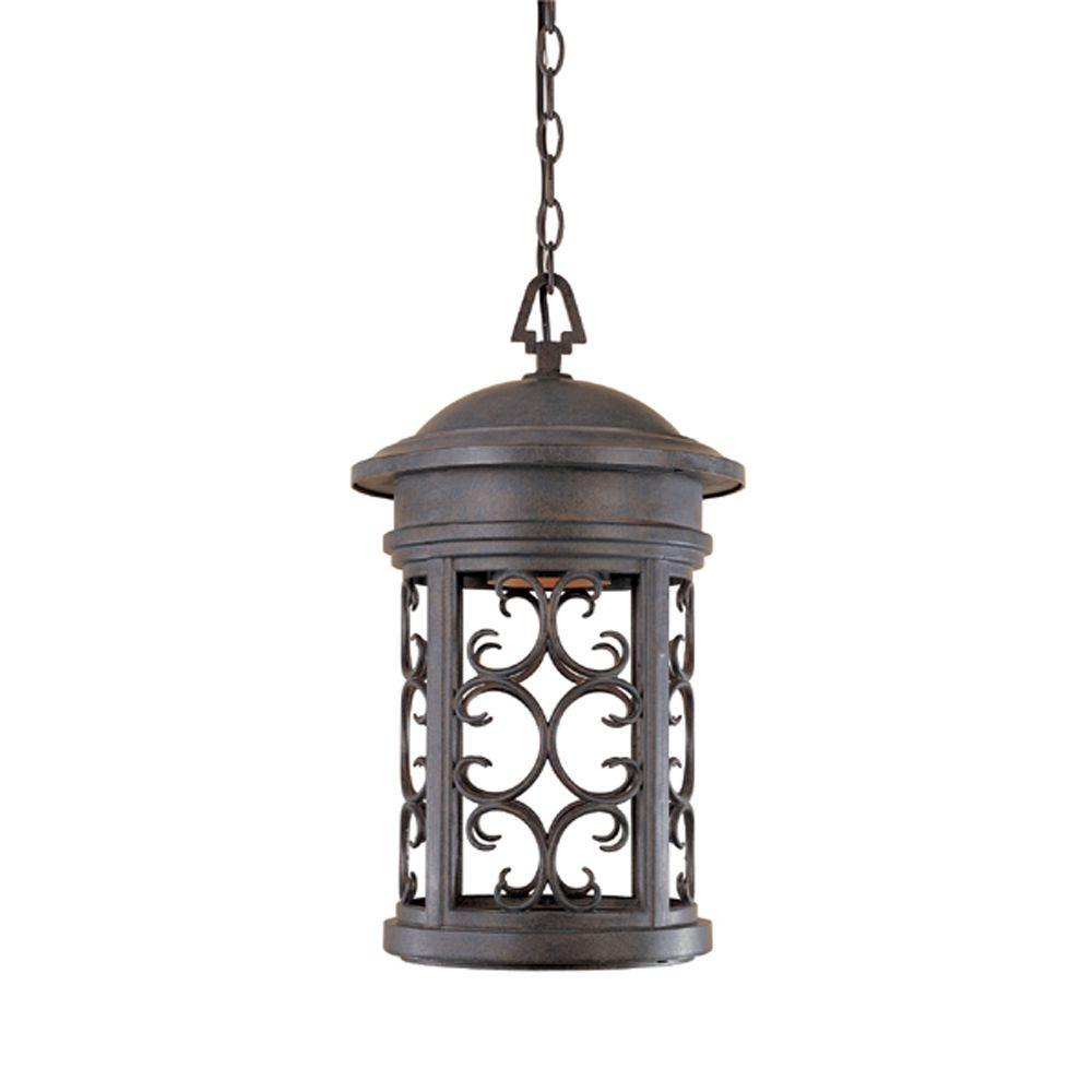 Designers fountain ellington mediterranean patina outdoor hanging lamp