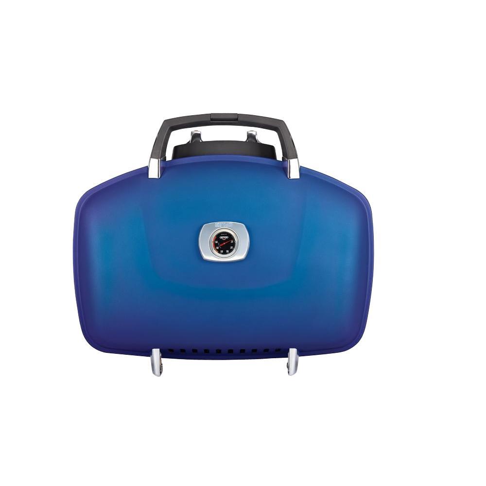2-Burner Portable Propane Gas Grill in Blue