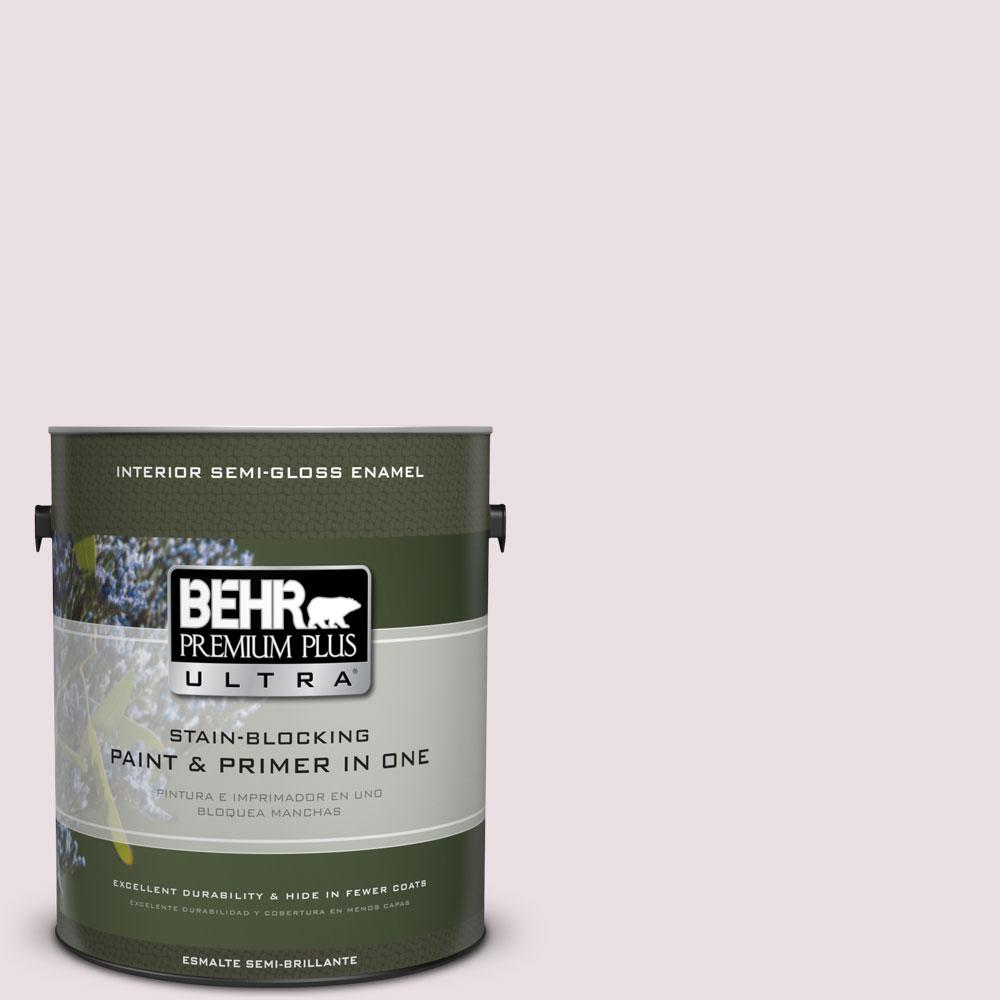 BEHR Premium Plus Ultra Home Decorators Collection 1-gal. #HDC-CT-08 Pink Posey Semi-Gloss Enamel Interior Paint