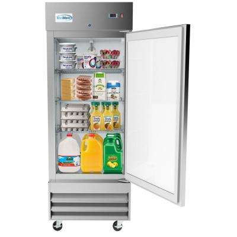 29 in. 19 cu. ft. Commercial Single Door Reach In Refrigerator in Stainless Steel