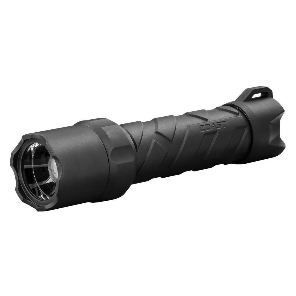 Coast Polysteel 650R 530 Lumen Rechargeable Waterproof LED Flashlight with Twist Focus