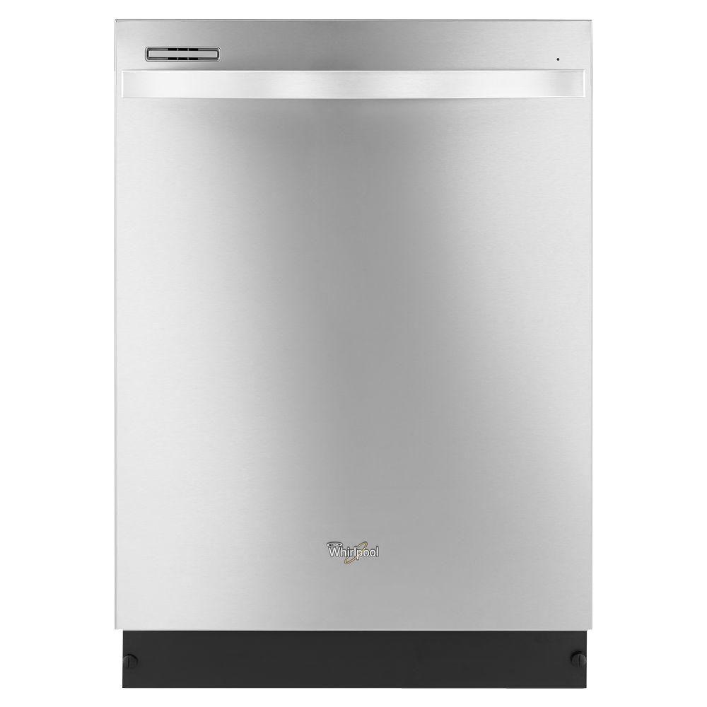 Whirlpool Gold Series Top Control Dishwasher in Monochromatic Stainless Steel with Silverware Spray