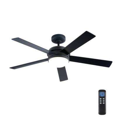 Audrino 52 in. Integrated LED Indoor Oil Rubbed Bronze DC Ceiling Fan with Light Kit and Remote Control