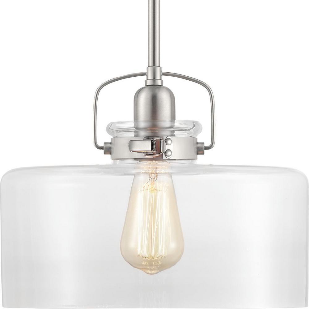 Calhoun 1-Light Brushed Nickel Pendant
