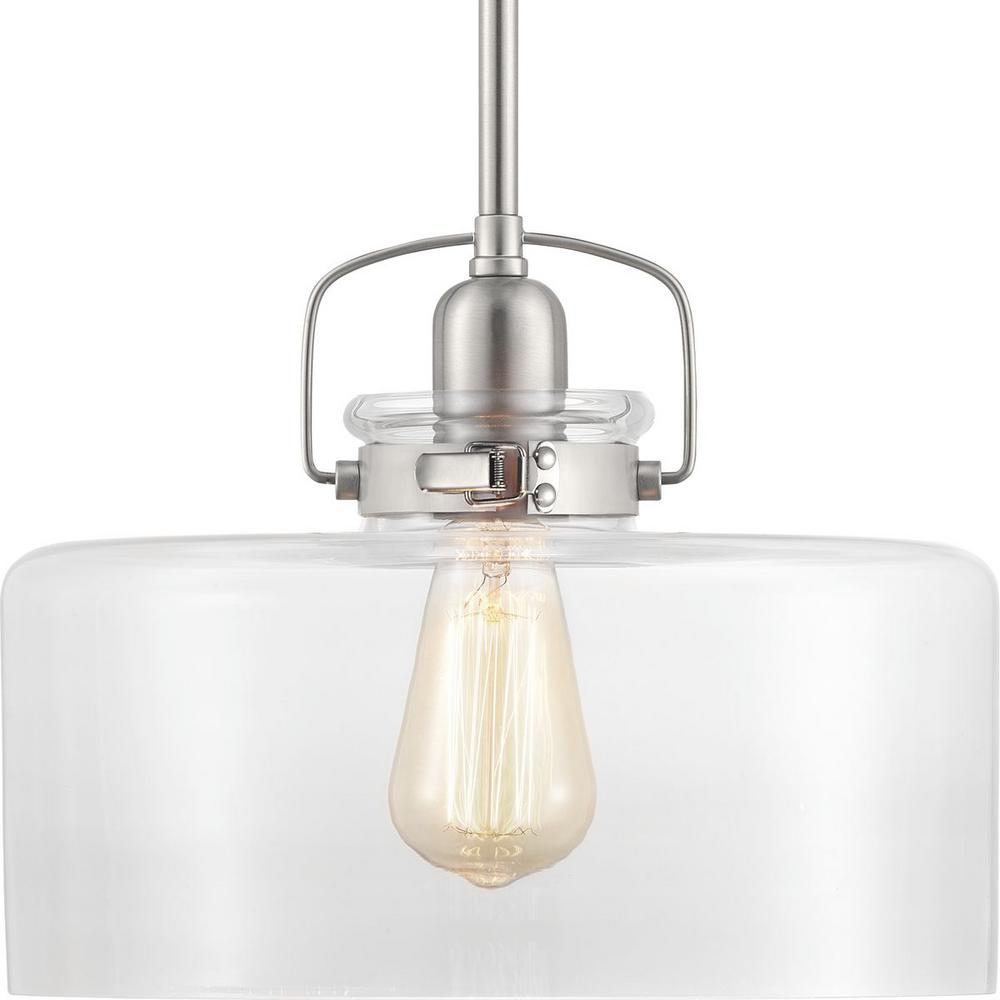 Progress Lighting Archie Collection 2 Light Antique Nickel: Progress Lighting Archie Collection 1-Light Antique Nickel