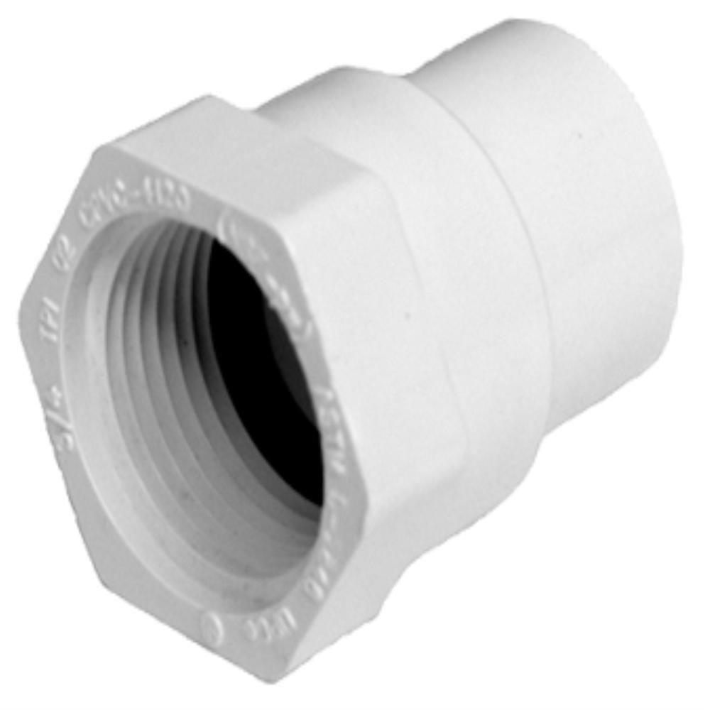 1 in. PVC Sch. 40 FPT x FPT Coupling