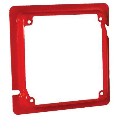 4-11/16 in. x 4 in. Square Adapter Ring, 5/8 in. Raised, Life Safety Red (25-Pack)