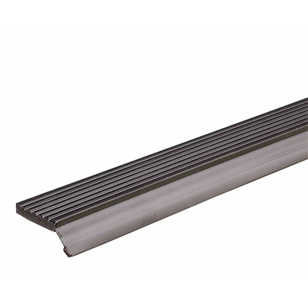 M-D Building Products V1046 9 ft. x 1/4 in. x 2-3/4 in. Brown Dual Vinyl Garage Door Seal for Top and Sides