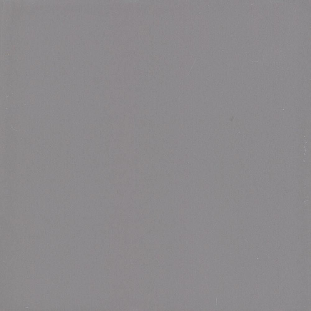 Semi-Gloss Suede Gray 4-1/4 in. x 4-1/4 in. Ceramic Wall Tile