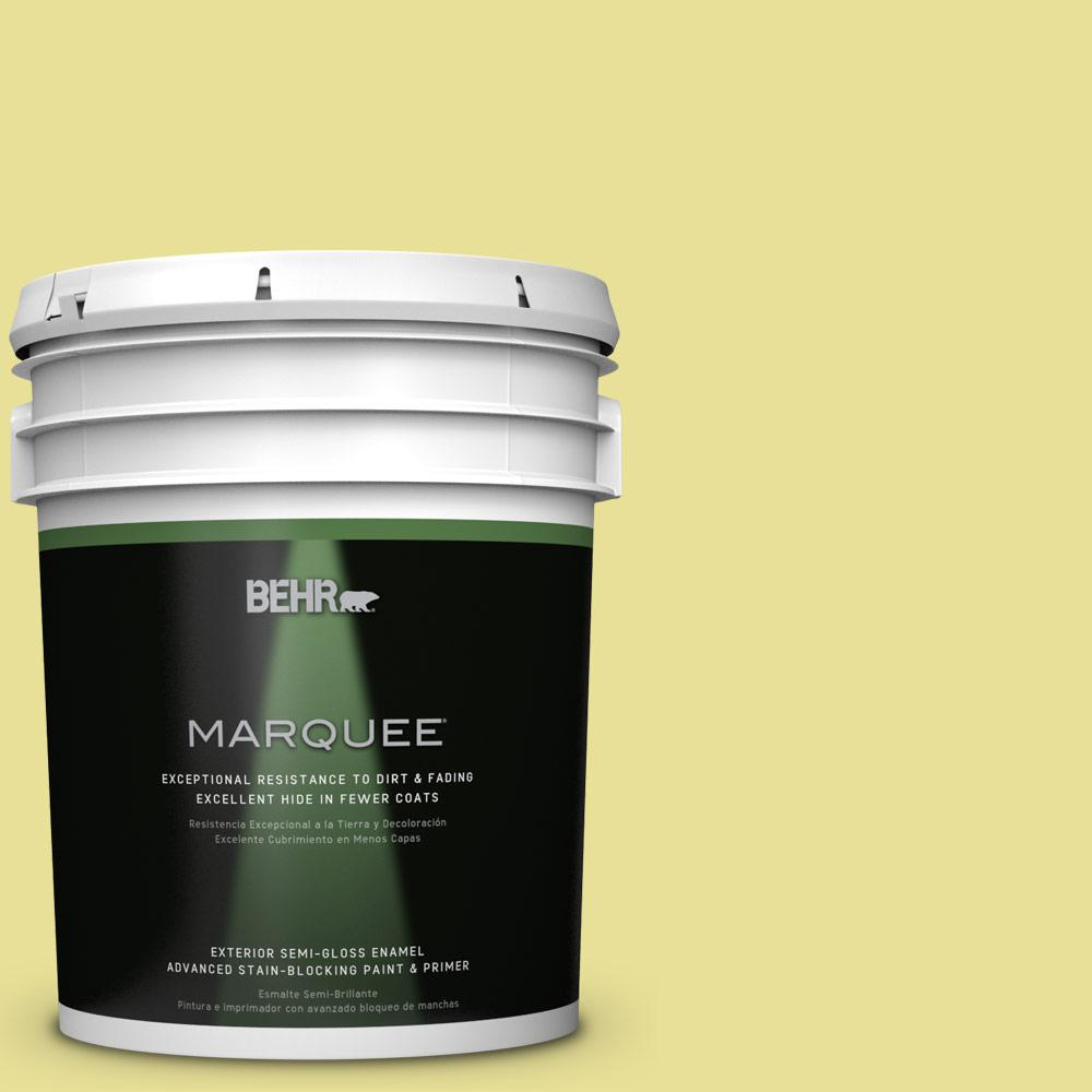 BEHR MARQUEE 5-gal. #P340-3 Reviving Green Semi-Gloss Enamel Exterior Paint