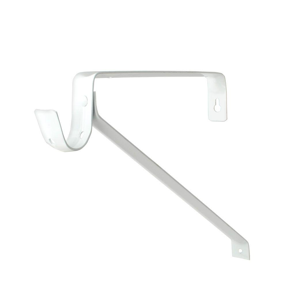 Everbilt White Adjustable Shelf Bracket And Rod Support