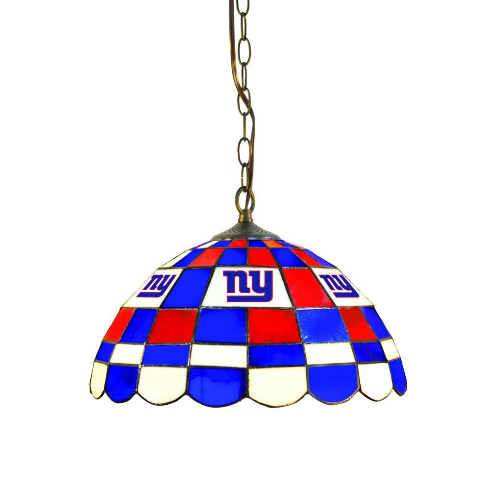 IMPERIAL New York Giants 1-Light Tiffany Pub Light