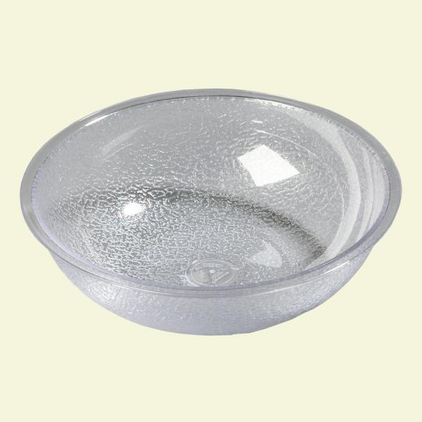 11 qt., 15.87 in. Diameter Polycarbonate Round Display and Serving Bowl in Clear (Case of 4)