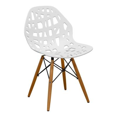Stencil Cut Out Eiffel White Dining Side Chair (Set of 2)