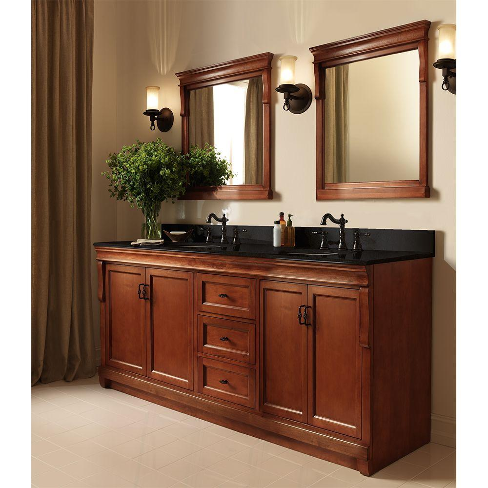 Terrific Home Decorators Collection Naples 60 In W Bath Vanity Cabinet Only In Warm Cinnamon For Double Bowl Best Image Libraries Weasiibadanjobscom