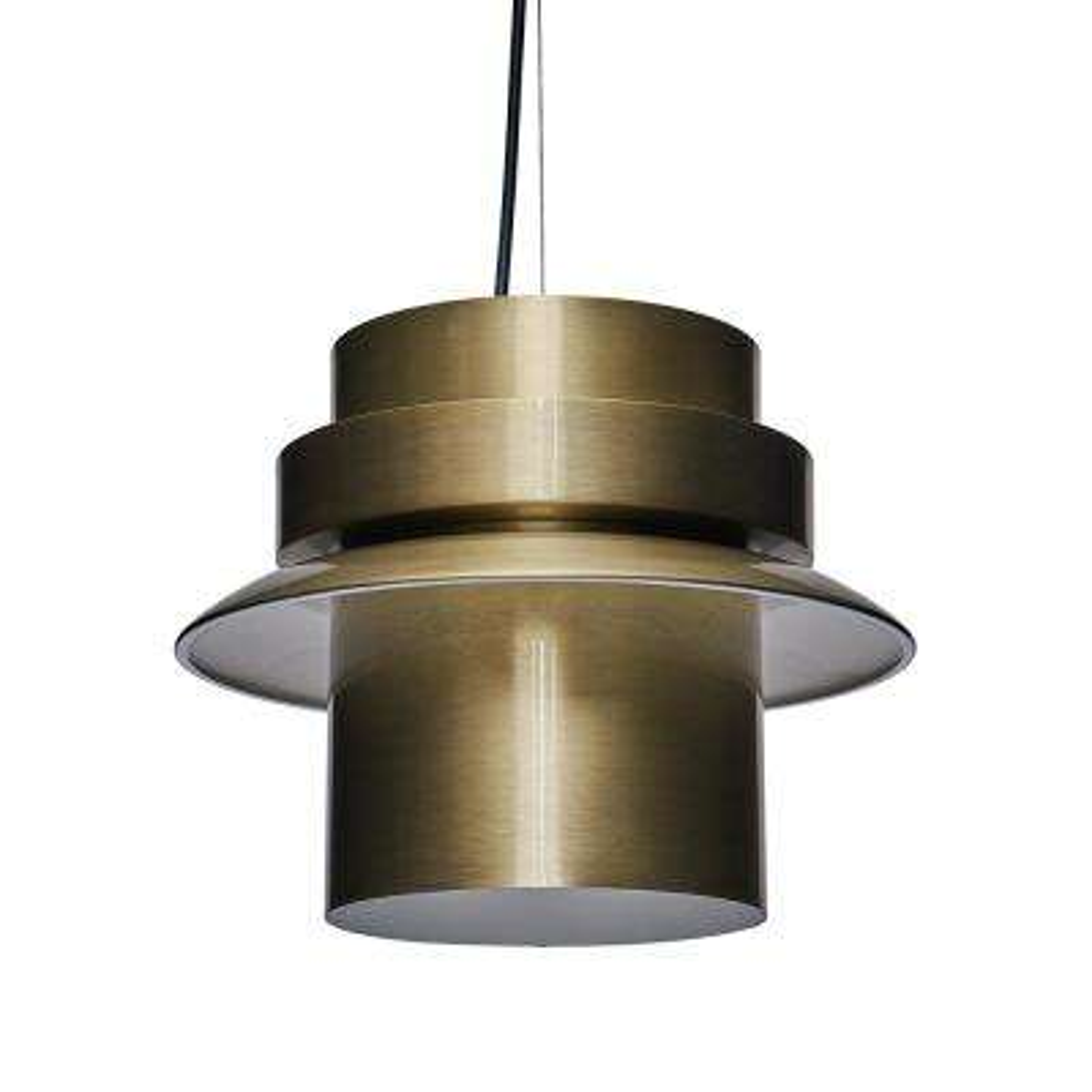 Oberg 14.5 in. Antique Brass Lamp (2-Piece Set)