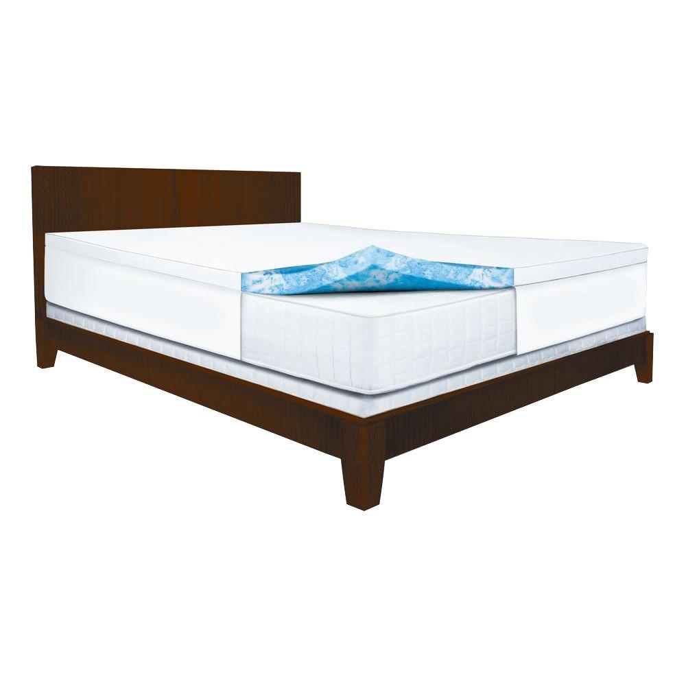 Sleep Innovations 2.5 in. Queen Gel Swirl Memory Foam Mattress Pad