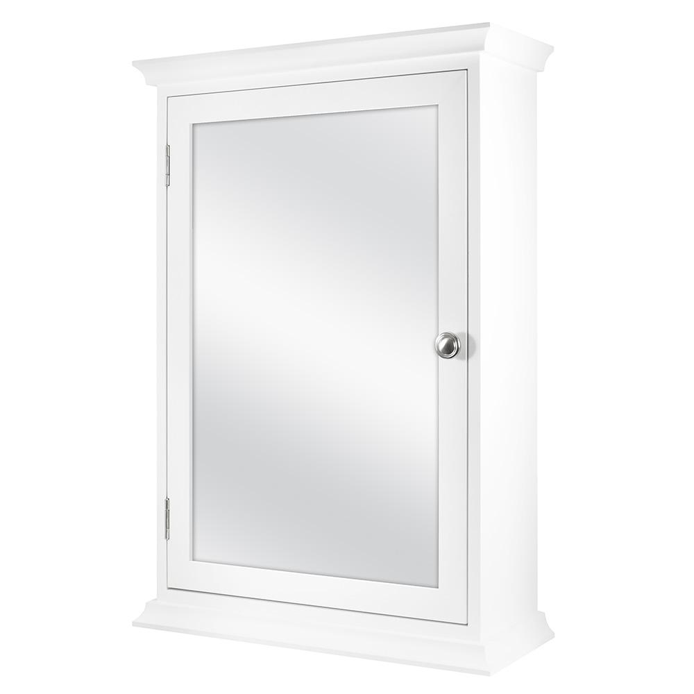 Home Decorators Collection 19-7/8 in. W x 28-1/4 in. H Fog Free Framed Recessed Mount Extended Storage Bathroom Medicine Cabinet in White