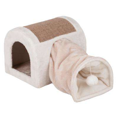 Light Gray/Taupe Ladina Cuddly Cave with Tunnel
