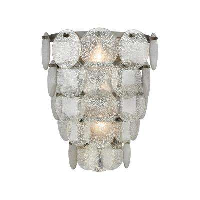 Airesse 2-Light Brushed Slate With Mercury Glass Sconce