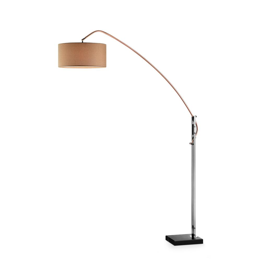 Avant copper adjustable floor lamp