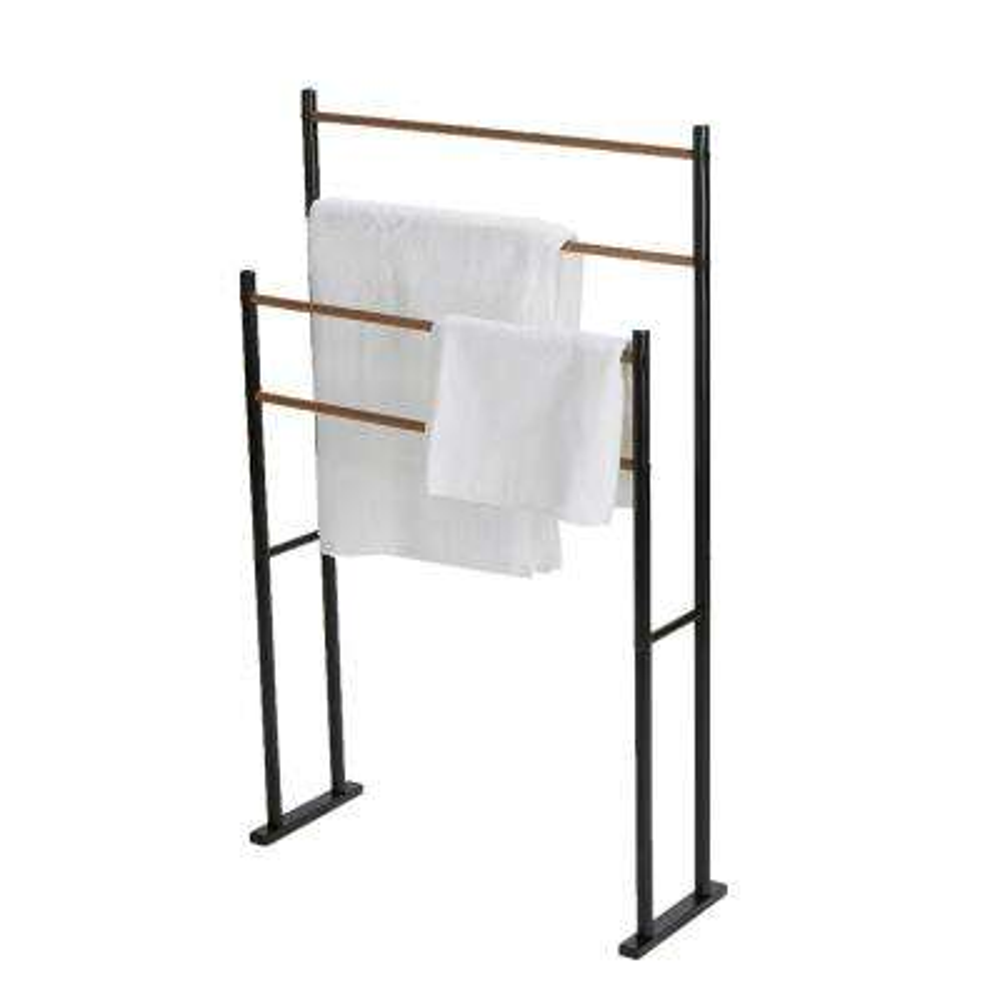 4-Bars / 2-Tier Towel Rack in Black