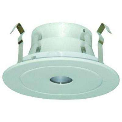 4 in. White Recessed Lighting Pinhole Trim with Aluminum Reflector
